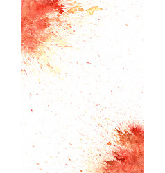 Abstract red and brown color watercolor splash vector