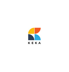 Abstract simple tiles letter k logo shape design vector