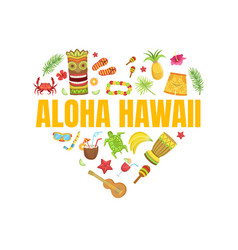 aloha hawaii travel banner template vector image