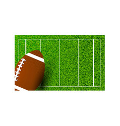 American football rugby on field of stadium vector