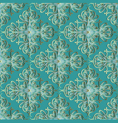 arabian style turquoise damask paisley vector image