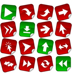 Arrows stickers vector image
