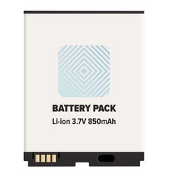 battery pack li-ion or lithium-ion isolated white vector image