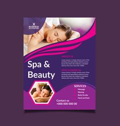 beauty salon spa flyer design templates vector image