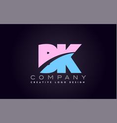Bk alphabet letter join joined letter logo design vector
