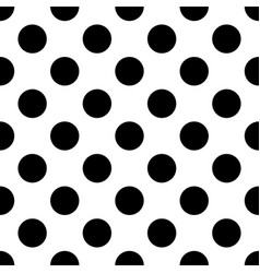 black polka dots on white background vector image