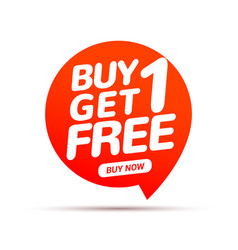 buy 1 get 1 free sale tag banner design template vector image
