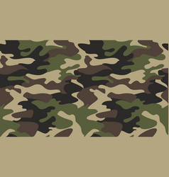 Camouflage pattern background classic clothing vector