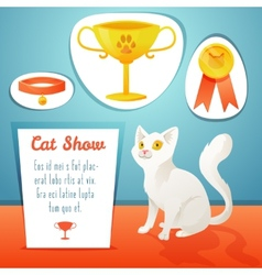 Cat winner vector image