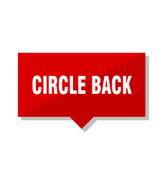 Circle back red tag vector