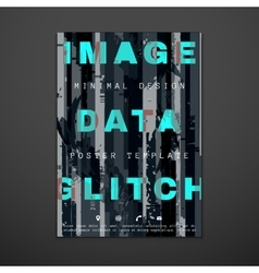 colored glitch design backdrop poster layout vector image