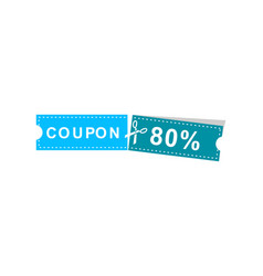 coupons discount banner 80 offers vector image