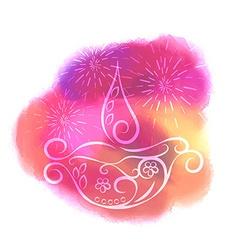 Creative colorful diwali diya design vector