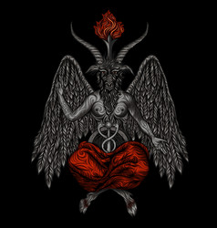 demon baphomet vector image