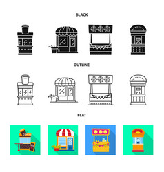 Design amusement and store sign set of vector