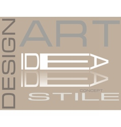 Design style Art composition vector