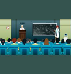 Doctor is teaching vector