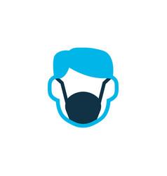 Dust mask icon colored symbol premium quality vector