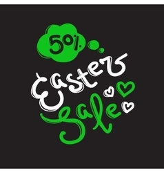 Easter sale label design template with vector