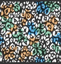 fashion textured animal pattern vector image