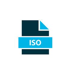 File iso icon colored symbol premium quality vector