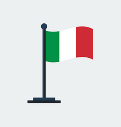 flag of italyflag stand vector image