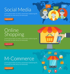 Flat design concept for social media online vector