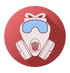 Flat icon of gas mask respirator vector