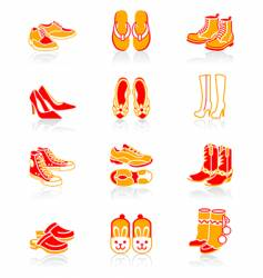 footwear icons juicy series vector image