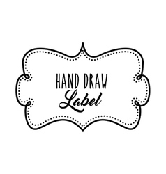 Frame icon Hand draw label design graphic vector image
