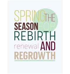 Fresh motivational spring poster vector