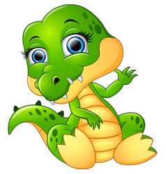 funny crocodile cartoon vector image