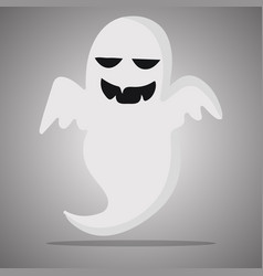 Ghost smile halloween vector