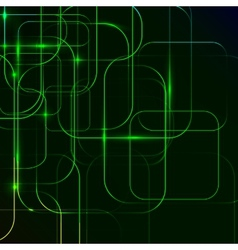 Green abstract background digital technologies vector