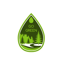 Green eco tree ecology environment icon vector