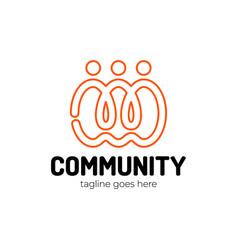 group people logo design creative people vector image