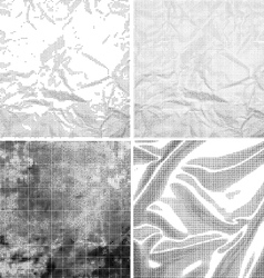 Halftone Grunge Backgrounds vector image