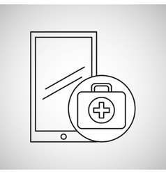 Healthy technology with first aid box vector