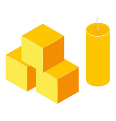 honey cube icon isometric style vector image