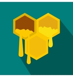Honeycomb icon in flat style vector image