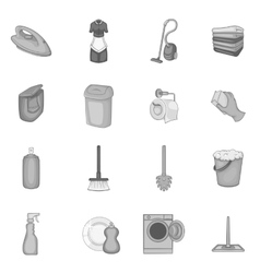 Household elements icons set vector