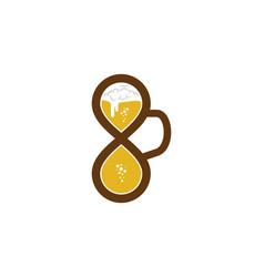 infinity beer logo icon design vector image