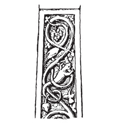 Interlace pattern from a celtic cross at ruthwell vector