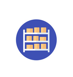 Inventory icon in flat style vector