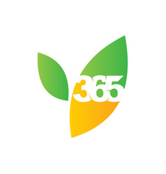 Leaf farm 365 infinity logo icon design vector