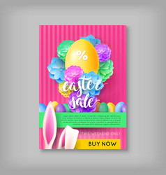 limited time card easter sale vector image