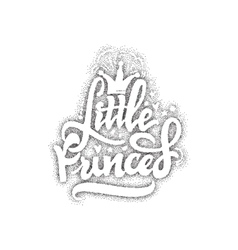 Little Princess Pointillism - Calligraphic patch vector image