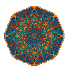 Mandala doodle drawing round zentangl ornament vector