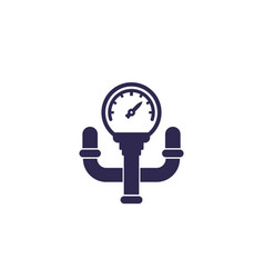 Manometer with tube icon vector