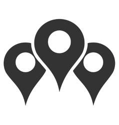 Map Locations Flat Icon vector